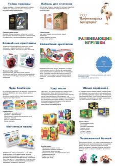 Дизайн буклета для магазина развивающих игрушек