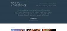 Вёрстка сайта «Styles Conference»