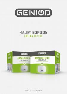 Дизайн коробки для аромадиффузора Geniod