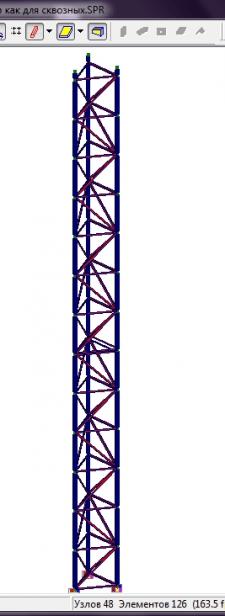 Вытяжная башня для дымовой трубы 18м. Расчёт и КМ