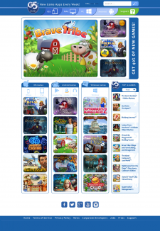 Главная страница для сайта G5 Games