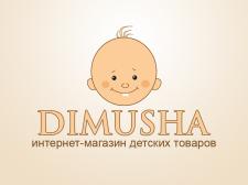 "Логотип для интернет-магазина ""DIMUSHA"""