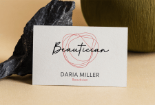 business card of a beautician
