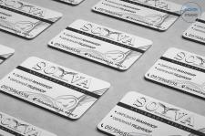Дизайн односторонней визитки