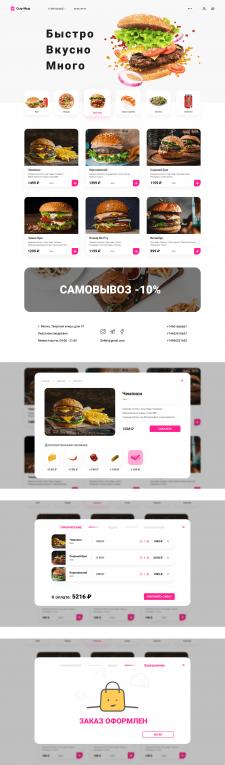 Дизайн сайта для доставки еды | Сыр-Мыр