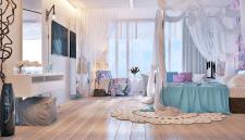 Визуализация спальни для девушки