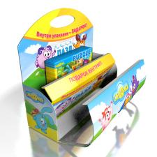 Промо-упаковка с подарком для детских молочных тов