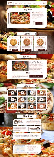 Pizza Desna / Landing Designe