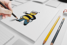 """Персонаж """"Пчела-прораб"""""""