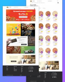 Дизайн сайта по доставке еды - Сафари