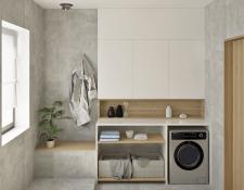 Ванная комната в частном доме, дизайн визуализация