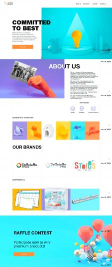 Сайт-портфолио для маркетингового агенства