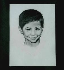 Портрет по фотографії. А4, олівець