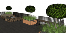 Тераса в приватному саду