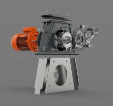 Shot blast turbine