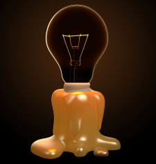 свеча-лампа