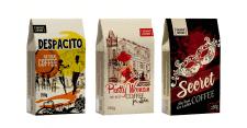 Серия тематических упаковок для кофе