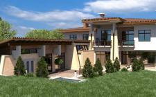 Визуализация загородного дома, по готовому обьему