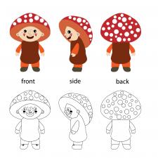 Человечек-гриб