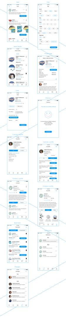 Дизайн моб. приложения для заказа бумаги в офис