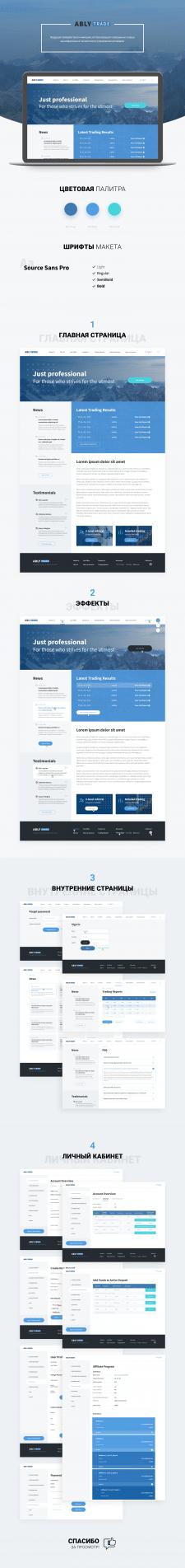 Дизайн сайта ABLY Trade