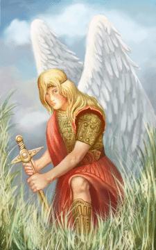 ангел с мечом форма 1