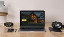 Дизайн лендинга по строительству частных домов