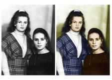 Изменение черно-белого фото в цветное