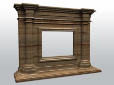3D модель каминного портала