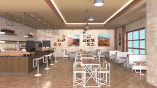 Дизайн интерьера кафе. Ракурс 2.