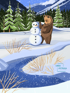 Медведь и снеговик