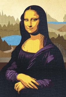 Портрет Мона Лизы в векторе