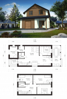 Проект дома на узком участке