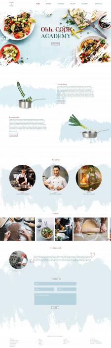 дизайн сайта для кулинарной школы