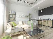 Визуализация квартира-студия 3D Max+Corona