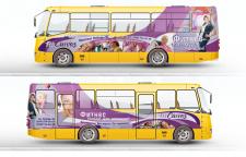FeetCurves - поклейка автобуса