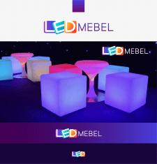 логотип для магазина LED мебели