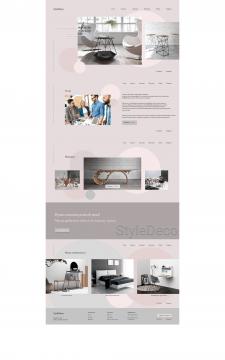 Дизайн сайта мебельной компании Style Deco