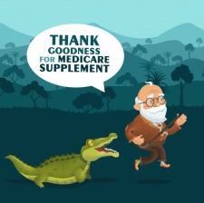 Дед и крокодил