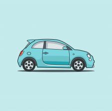 Векторная иллюстрация - электро-автомобиль
