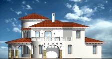 Частный жилой дом в средиземноморском стиле.