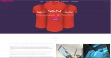 Сайт печати на одежде, заполнение контентом