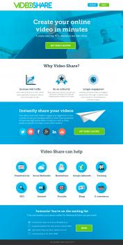 Дизайн сайта австралийской компании VideoShare