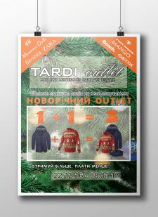 разработка баннера для магазина TARDI outlet