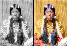 Индейская девушка-реконструкция фото