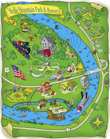 Cartoon map