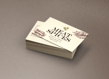 "Дизайн визиток ""Meat Spices"""