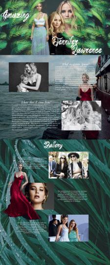 Дизайн фан-сайта в стиле журнальной верстки