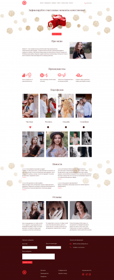 Landing page for photographer Anehabrysh