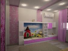 Дизайн-проект детской комнаты для девочки